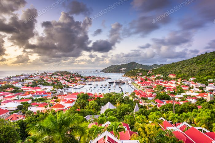 Gustavia, St. Barths in the Caribbean