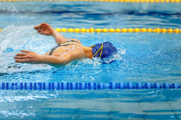 female athlete swimmer