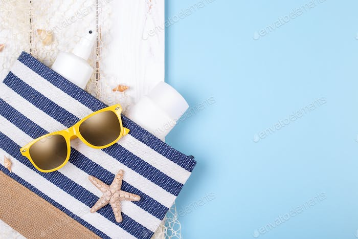 Vacation concept beach accessories
