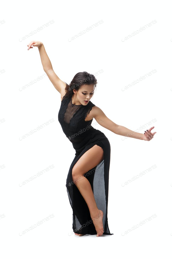 Schöne moderne Tänzerin Mädchen