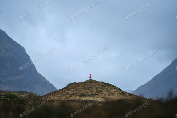 Trekking at Glen Etive