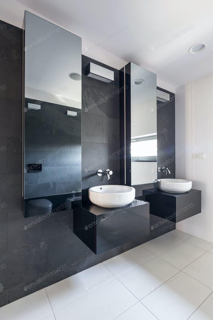 Elegant bathroom with two sinks