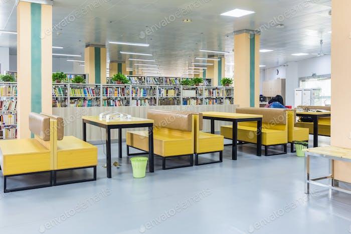 área de lectura de Biblioteca