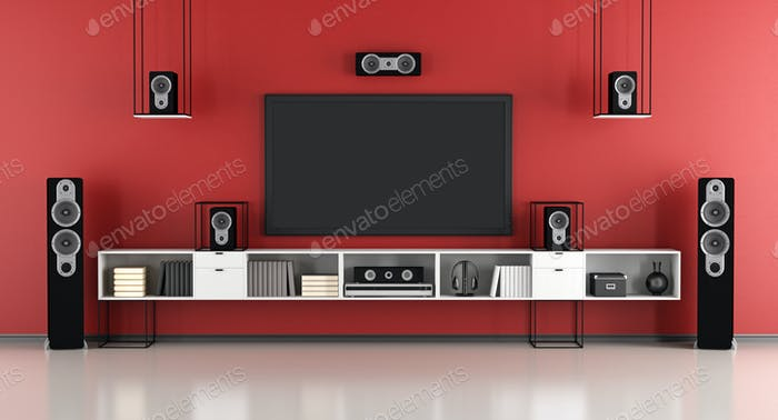 Red home cinema system