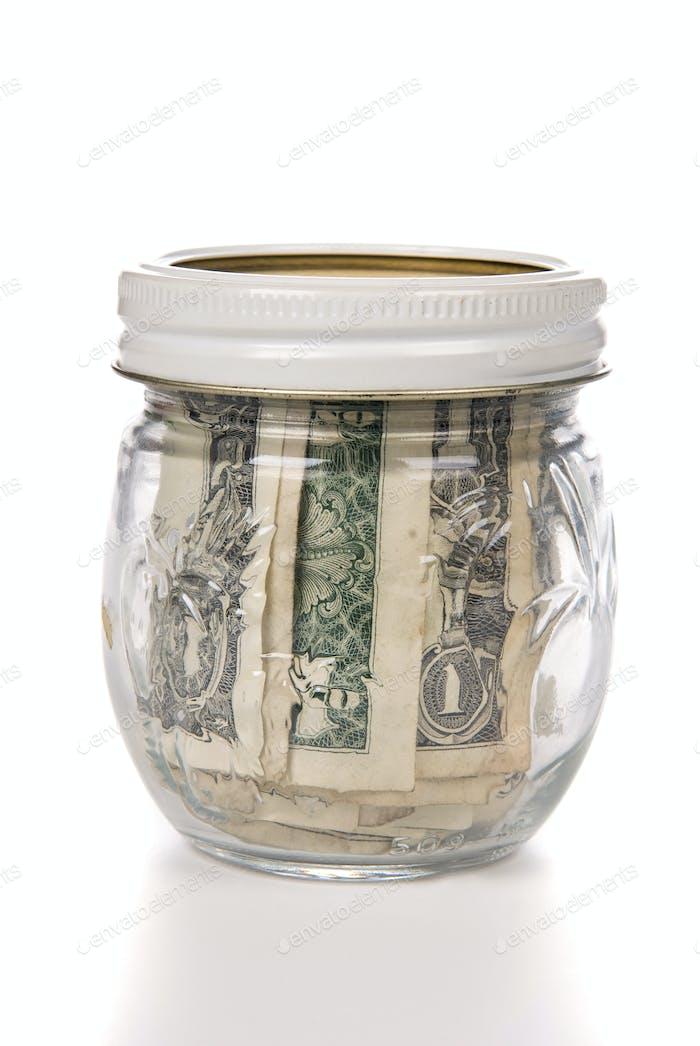 Tarro de dinero en efectivo