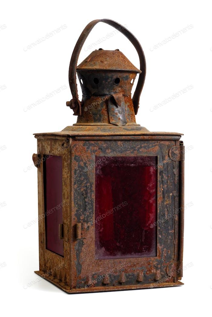 Old rusty lantern