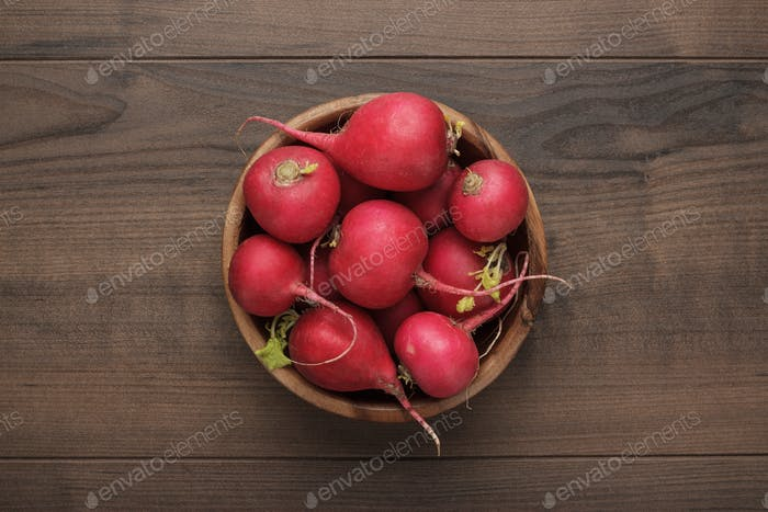 Bowl Of Fresh Red Radishes