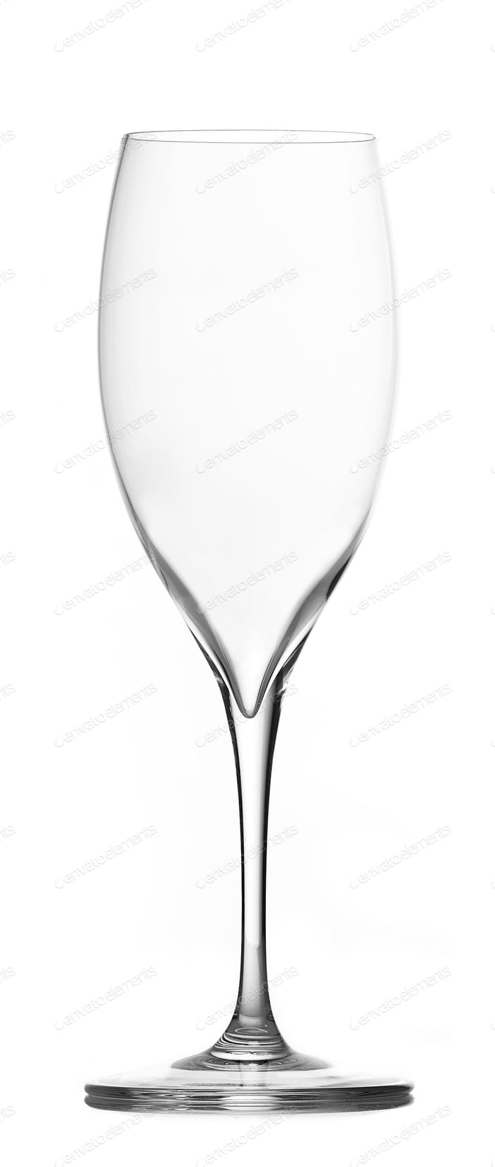 empty champagne glass