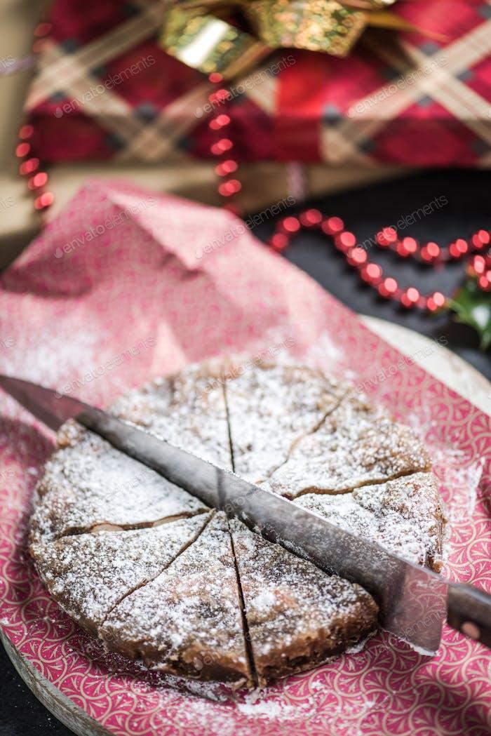 Christmas festive fruit rich cake