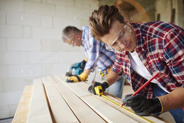 Hard working men at their work place