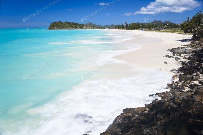 Caribbean Beach With Perfect Sky, Antigua