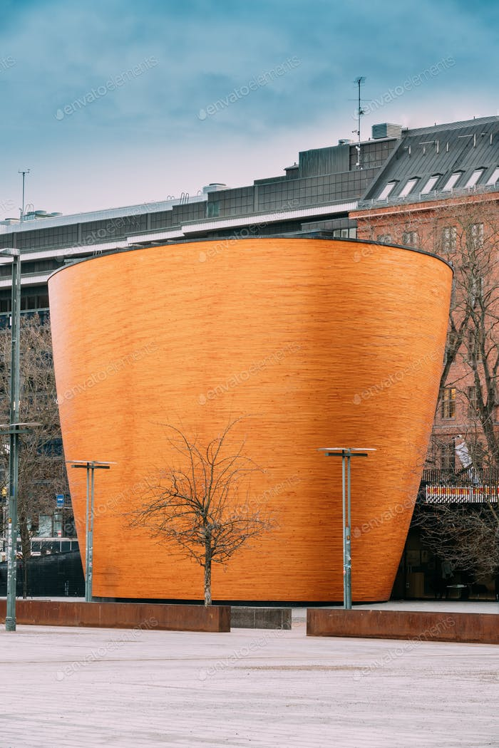 Helsinki, Finland. Kamppi Chapel Also Known As Chapel Of Silence
