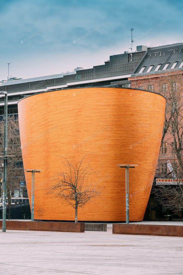 Helsinki, Finland. Kamppi Chapel Also Known As Chapel Of Silence