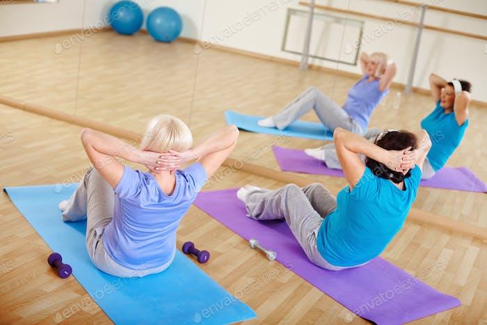Укрепление мышц живота