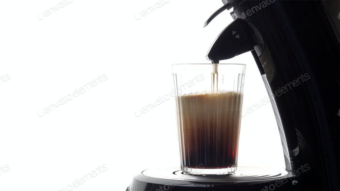 glass of fresh coffee