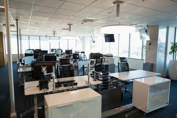 Вид интерьера офиса