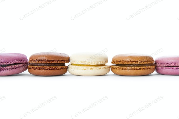 Macaroons in a row