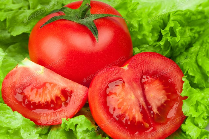 Tomato with salad