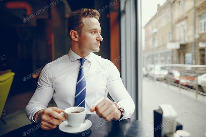 a businessman in a suit
