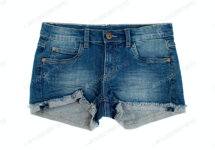Short denim shorts.