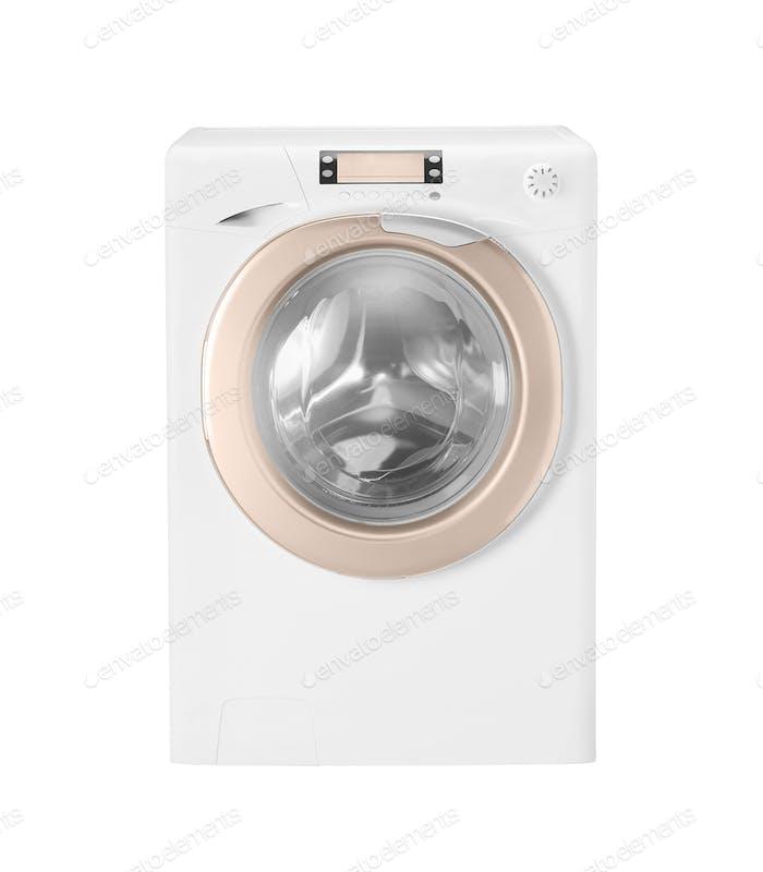 Waschmaschine isoliert auf weißem Hintergrund