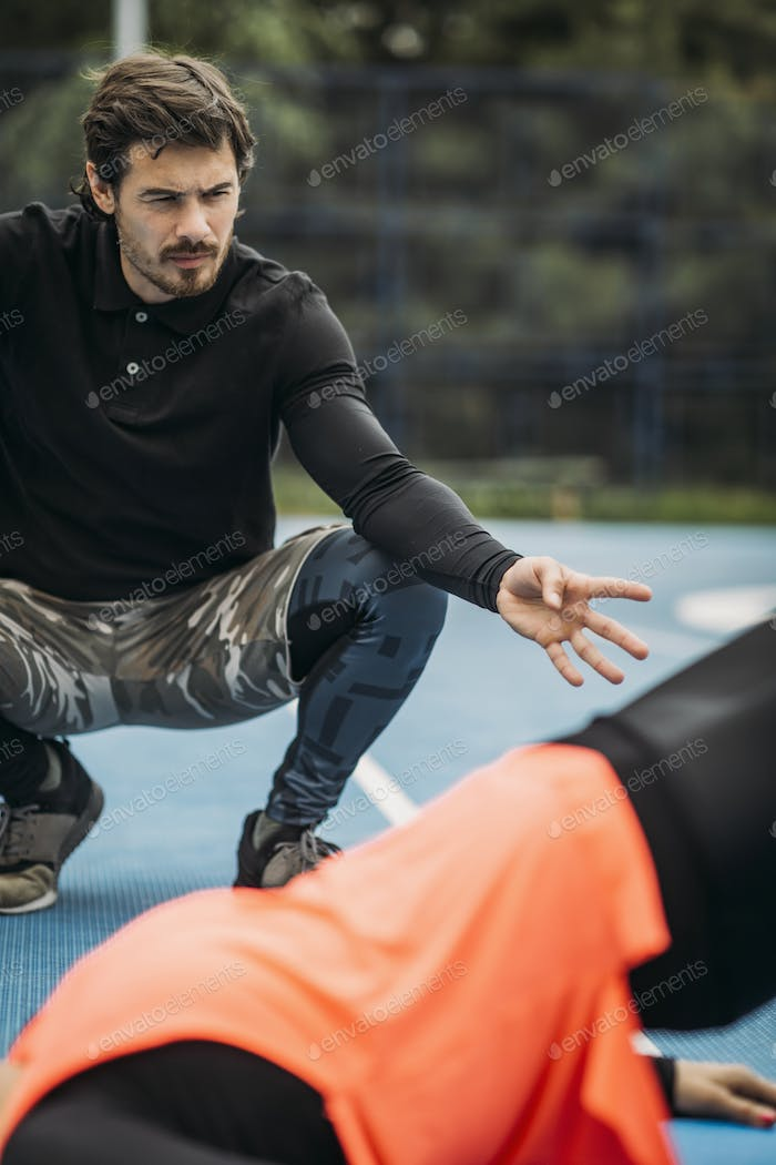 Training Outdoors with Personal Fitness Coach