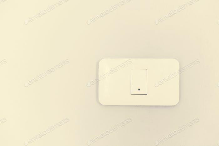 Switch supply on white background