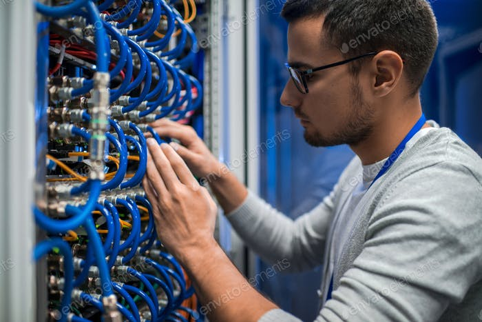 System Engineer Checking Servers