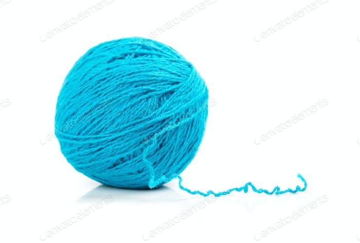 Blue ball of yarn