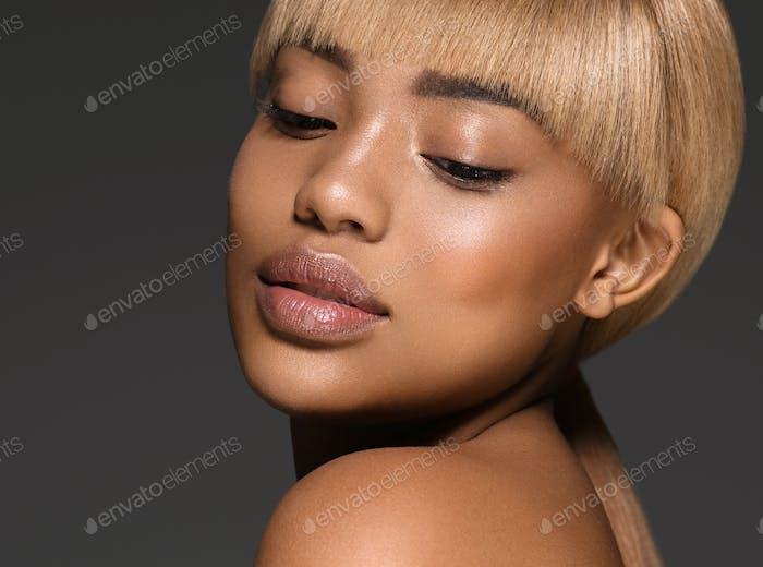 African woman american black skin beauty portrait