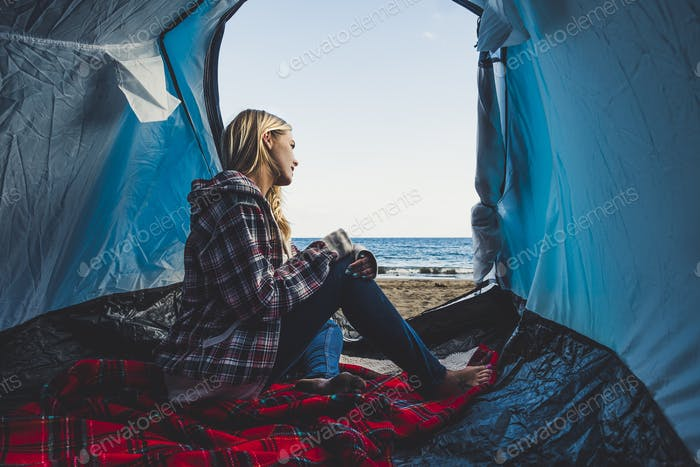 Freedom and alternative tiny house or wild independent vacation