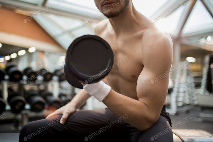 Guy with barbell