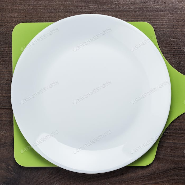 White Plate And Cutting Board