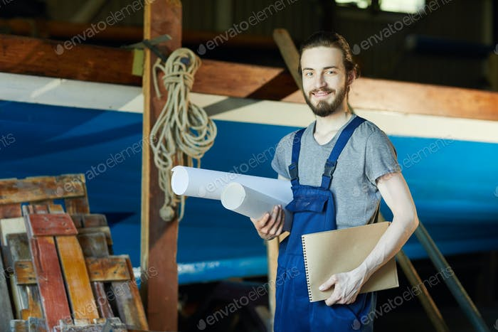 Cheerful engineer