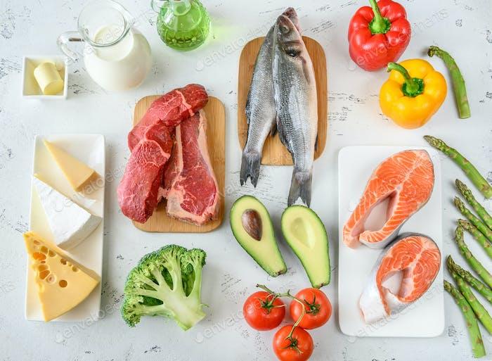 Alimentos para dieta cetogénica