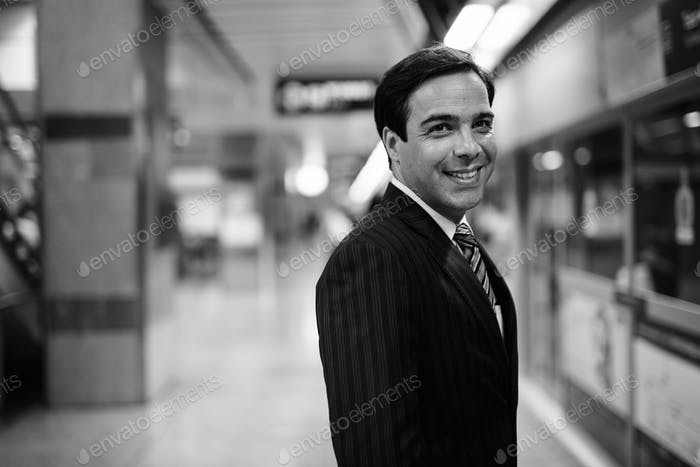 Handsome Persian businessman exploring the city of Bangkok, Thailand