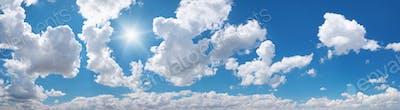 Sky panorama at day.
