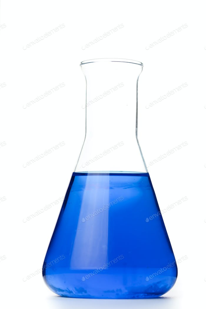 Erlenmeyer against a white background