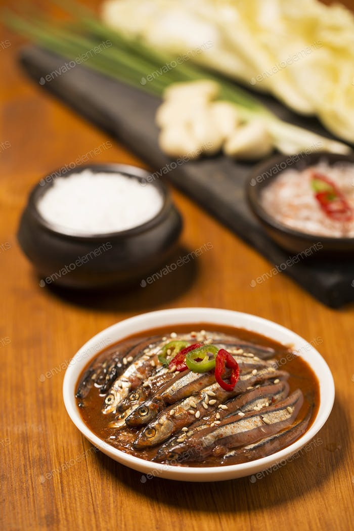 Korean Cuisine: Salted Fermented Fish/Seafood