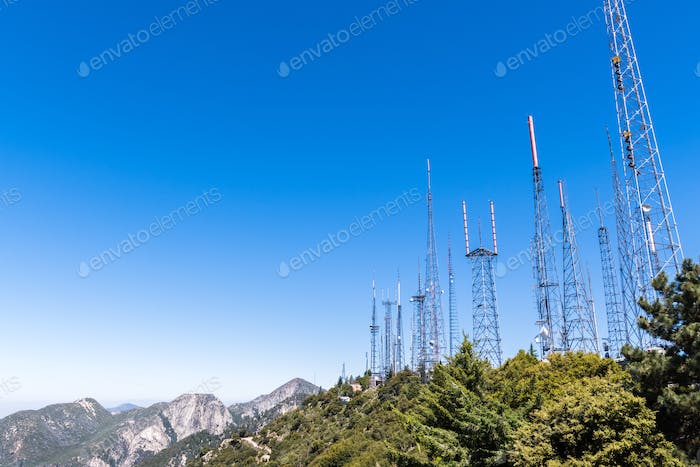 Telecommunication Radio antenna Towers, Mount Wilson, south California