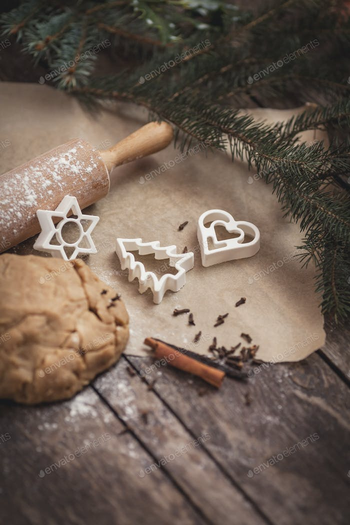Christmas time for baking cookies