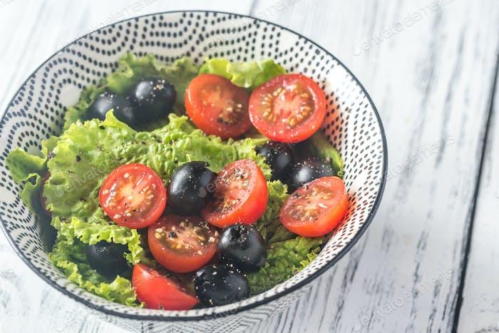 Bowl of fresh salad