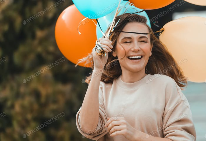 Birthday Party with Colorful Balloons