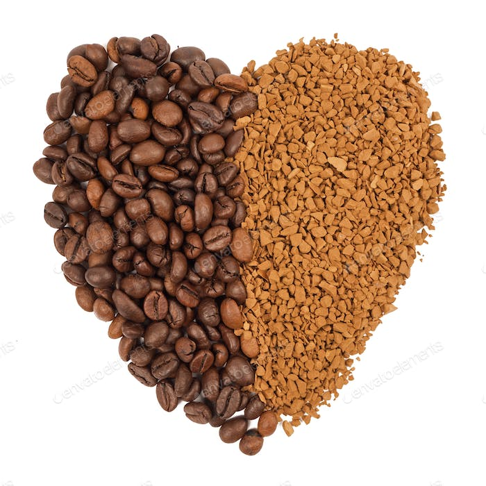 Coffee grains, instant coffee