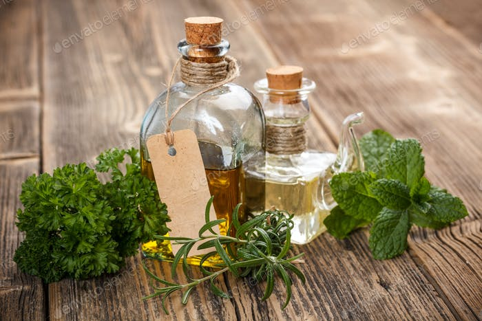 Oil with herbs