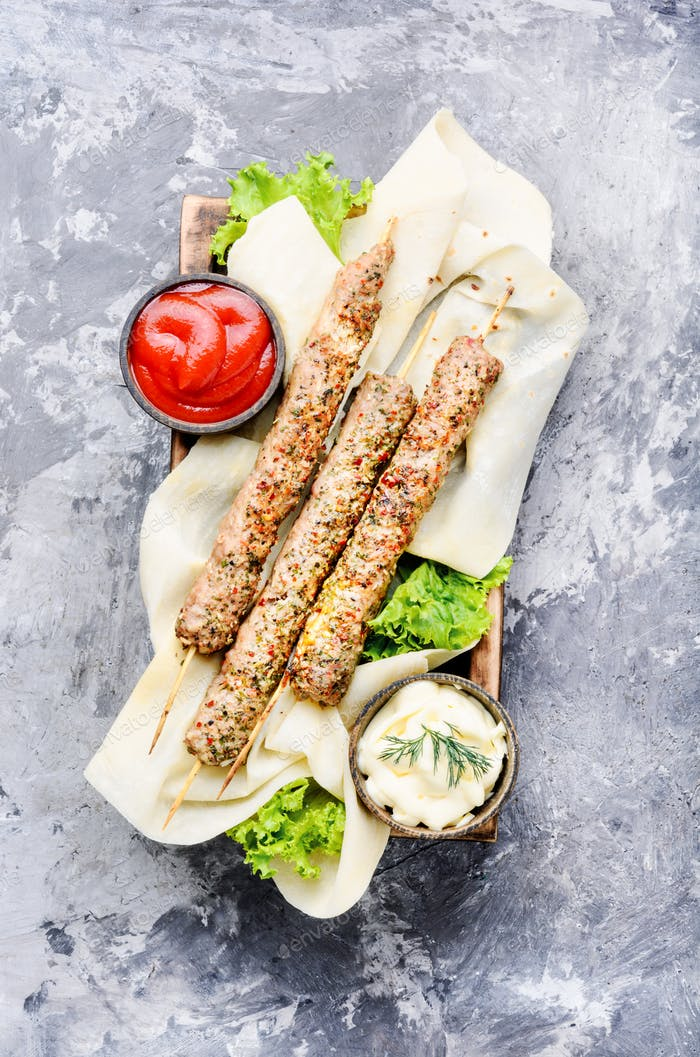 Traditional meat kebab