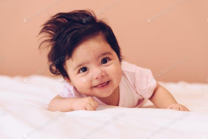 Portrait of pretty baby girl