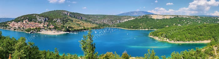 Panoramic view of St.Croix lake in Verdon, Provence, France