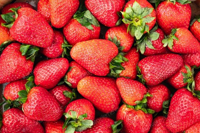 Süße reife Erdbeere Nahaufnahme