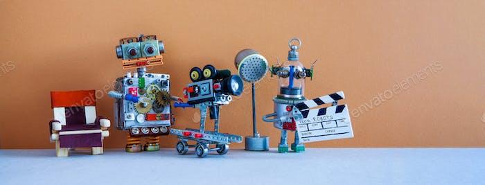 Robotic filmmaking backstage.